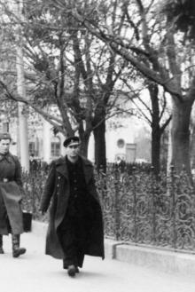 У Привокзального сквера, 1950-е гг