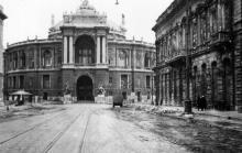Одесса, фасад оперного театра, начало 1942 г.