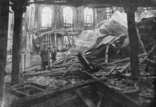 Зрительный зал театра Сибирякова после пожара. Фото в журнале «Искры», ноябрь, 1913 г.