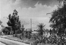 Спуск к пляжу на 10-й станции Фонтана. Фото в брошюре «Одесса с моря». 1970 г.