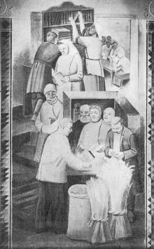 Фреска розп. Колгосп. санат. на Хаджибеївськім лимані. Фото в брошурі «Микола Рокицький», 1933 р.