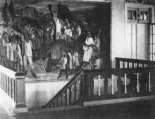 Розписи вестибюлю другого поверху Селянського санаторію ім. ВУЦВК на Хаджибеївському лимані в Одесі.