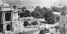 Одесса. Театр оперы и балета. Театральный сад. 1971 г.