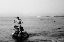 На пляже в Лузановке. 1961 г.