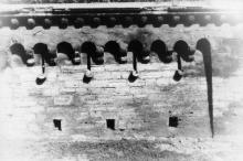 Подпорная стенка на спуске Вакуленчука. Фотограф Андрей Онисимович Лисенко. Конец 1940-х гг.