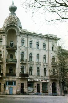 Одесса, Дом № 18 по ул. Щепкина, угол Советской армии. 1989 г.