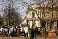 Кафе «Алые паруса». К. Маркса угол Дерибасовской. 1989 г.