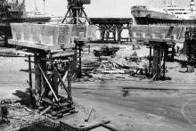 Строительство пассажирского комплекса Одесского порта. 11 июня, 1965 г.