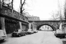 Одесса. Новиков мост и подпорная стенка на спуске Вакуленчука. 1980-е гг.