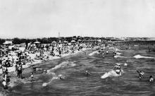 Одеса. Лузанівка. Пляж. Фото А. Вайсмана. Поштовка картка. 1958 р.