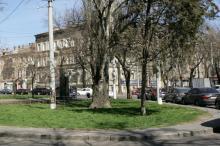 Площадь Толстого. Фото В. Тенякова. 04 апреля 2017 г.