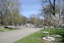 Одесса. Прохоровский сквер. Фото В. Тенякова. 04 марта 2017 г.