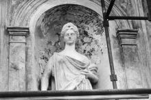 Реставрация скульптур и здания горисполкома. 1980 г.