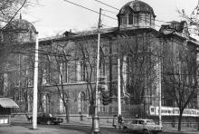 Ул. Жуковского угол ул. Пушкинской. Здание Одесского областного архива. 1980 г.