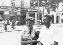 Одесса. Фотоателье и кафе в доме № 16 по Дерибасовской улице. Конец 1940-х гг.