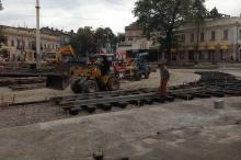 Тираспольская площадь. Реконструкция. Фото Е. Волокина. 11 октября 2016 г.