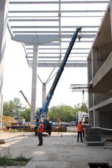 Строительство нового терминала Одесского аэропорта. Фото О. Владимирского. 13 августа 2014 г.