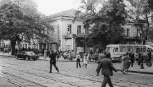 Улица Советской Армии (Преображенская) угол Карла Либкнехта (Греческая), середина 1970-х годов