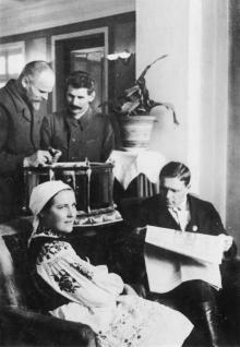На відпочинку. Одеський колгоспний санаторій. Фото Н. Коллі. Поштова картка. 1939 р.