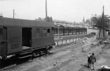 Вид перронов вокзала, лето 1943 г.