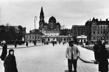 Привокзальная площадь, фотография 1942-1943 годов