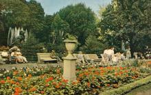 В городском саду. Фото в книге-фотогармошке «Одесса». 1960-е гг.