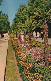Парк в Аркадии. Фото в книге-фотогармошке «Одесса». 1960-е гг.