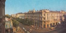 Готель та універмаг «Пасаж». Фото Б. Мінделя з комплекту «Одеса», 1989 р.