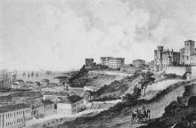Вид на порт и Воронцовский дворец. Гравюра Франца Гросса