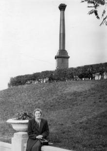 Одесса, возле Александровской колонны, 1950-е гг.
