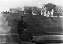 На Потемкинской лестнице. Вход в Пионерский парк. 1950-е гг.