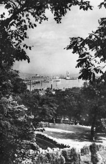 Одеса. Вид з Приморського бульвару. Фото О. Малаховського. Поштова картка. 1958 р.