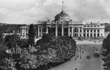 Одеса. Вокзал. Фото Я. Таборовського. Поштова картка. 1955 р.