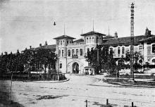 Въезд в больницу и административное здание