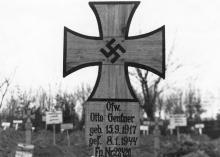 Могила немецкого солдата на 2-м христианском кладбище. Одесса, январь, 1944 г.