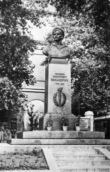 Одесса. Памятник Г. Вакуленчуку. Фото О. Малаховского. Открытка из набора «Одесса», 1961 г.