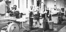 Цех приборов — коллектив коммунистического труда. Фото в буклете «Одесскому заводу имени П. Старостина 100 лет», 1982 г.