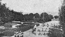 Люстдорф. Санаторий им. Крупской. Фото в брошюре «Одесса. Приморские курорты». 1933 г.