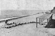 Люстдорф. Дети на пляже. Фото в брошюре «Одесса. Приморские курорты». 1933 г.