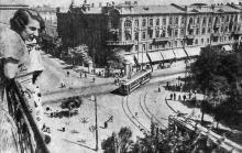 Одесса. Угол улиц 10-ти летия Красной Армии и Лассаля. Здание Пассажа. Фото А. Шайхета. 1936 г.