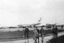 В Одесском аэропорту. 1970-е гг.