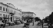 Улица Преображенская, вдали дом Папудова