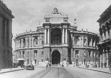 Одеса. Театр опери та балету. Фото Б. Левіта. Поштова картка. 1938 р.