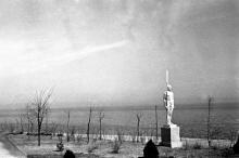 Ланжерон, скульптура гребца работы П. Вильчинского, 1939 г.
