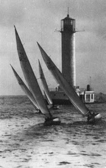 Одесса. Яхты в море. Фото А. Котляревского. Почтовая карточка. 1961 г.