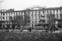 Вид на ул. 10-летия Красной Армии (Преображенскую) и Пассаж с площади Советской Армии (Соборной), 1956 г.