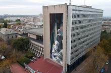 Роспись на стене здания Морского университета. Фото пресс-службы университета. 26 октября 2017 г.
