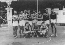 Баскетбольная площадка на стадионе ЧМП. 1965 г.