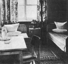 На турбазе всегда чисто и уютно. Фото в брошюре «Одесская туристская база», 1972 г.