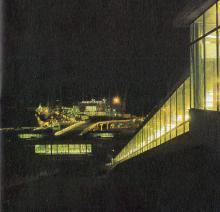Морской вокзал и эскалатор. Фото в брошюре «Одесская туристская база», 1972 г.
